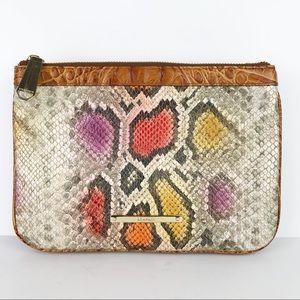 Brahmin Perri Crossbody Snake Print Shoulder Bag